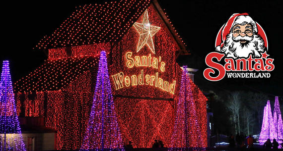 santa's wonderland with logo