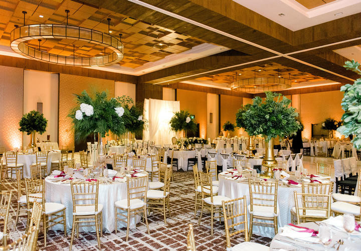 Century ballroom wedding reception