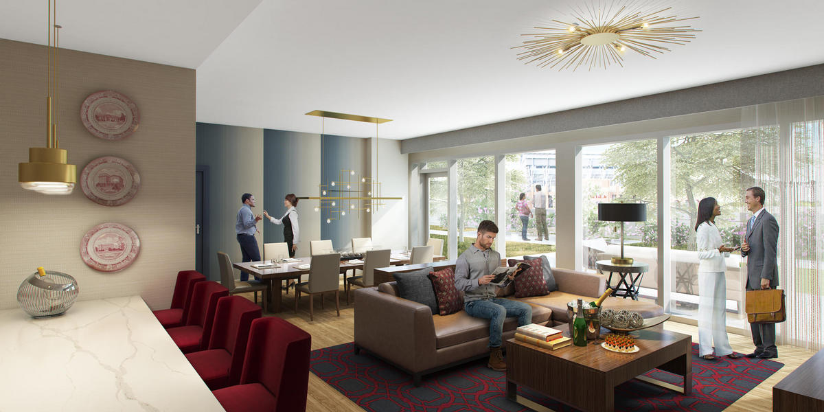 Hospitality suite interior