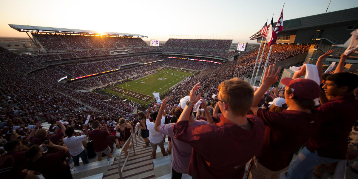 Texas A and M Kyle Field Football Game